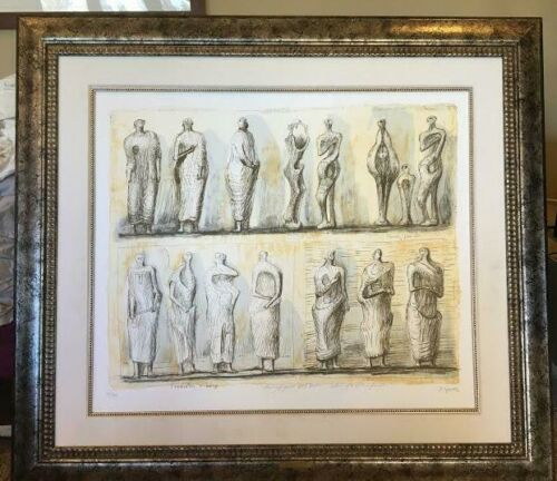 """""""Standing Figures Collection of Henry Moore Foundation"""" by Henry Moore"""