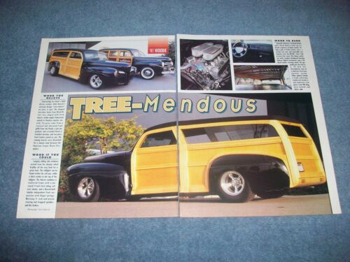 """1941 Ford Woodie Station Wagon Vintage Street Rod Article """"Tree-Mendous"""""""