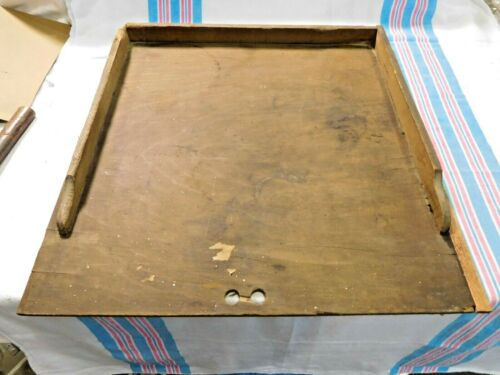 Antique ~ Salvage ~ Pull-out Tray with gallery for Hoosier Sellers Cabinet #2137