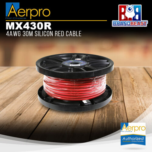Aerpro MX430R 4AWG 30m Silicon Red Cable