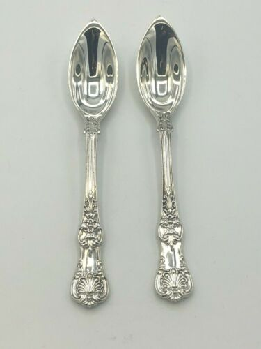"""English King by Tiffany Sterling Silver pair of Fruit Spoons 5.75"""""""