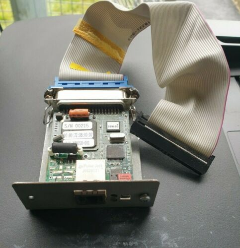 Printronix 174658-001 Ethernet Attachment Card W/ CABLE  (R5S2.4B3)