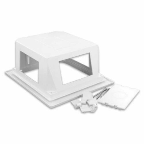 Leviton REB - RECESSED ENTERTAINMENT BOX - INCLUDES LOW PROFILE FRAME / COVER