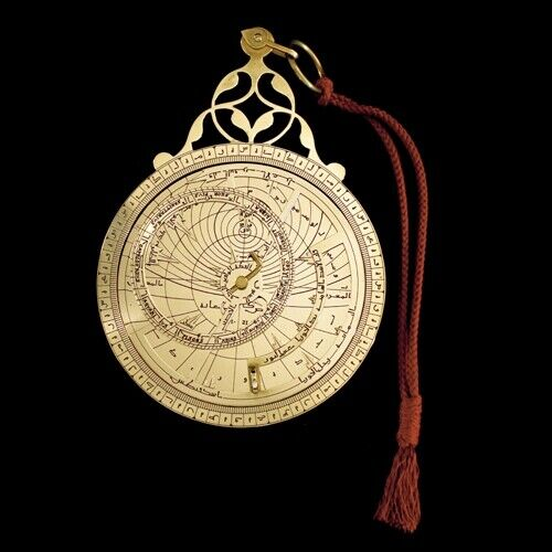 Astrolabe Science & History Ancient Astronomy With Wooden Box