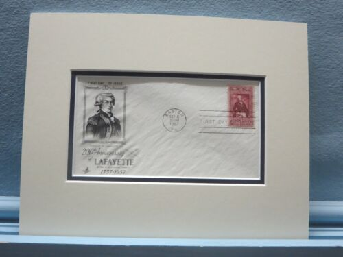 American Revolution - Marquis de Lafayette & First Day Cover of his own stampOriginal Period Items - 10951