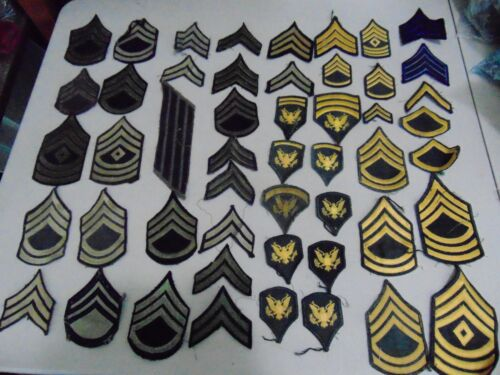 Military Lot Set Of Patches Ww2 Era  And Later Ranks Ssg Sfc Msg Spec5 Etc #1
