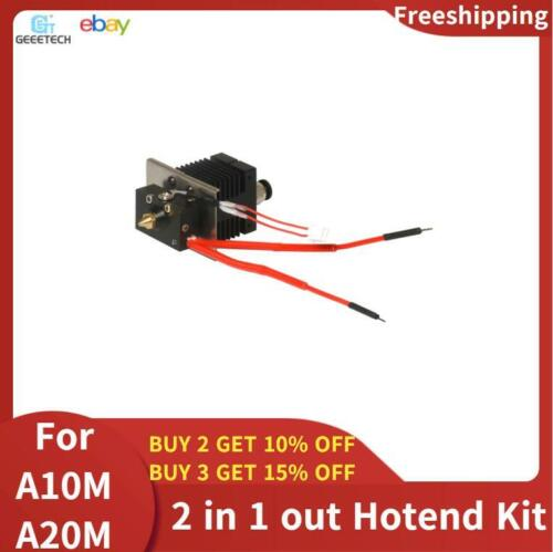 GEEETECH A10M A20M 2 in 1 out Mix Color Hotend  Kit 0.4mm Nozzle Hot 3d Printer