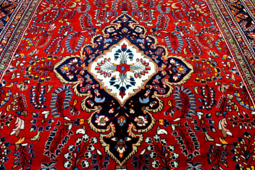 10X14 MUSEUM MINT 400KPSI HAND KNOTED VEGETABLE DYE ANTQ DATED FARAHANN WOOL RUG