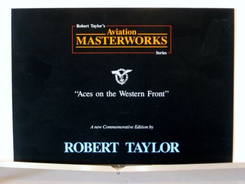 Aces on the Western Front Me109 Robert Taylor Multi-Page Advertising Brochure