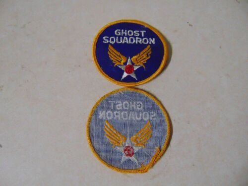 Military Patch Older Sew On Us Army Air Corps Ghost Squadron Approx 3 Inches