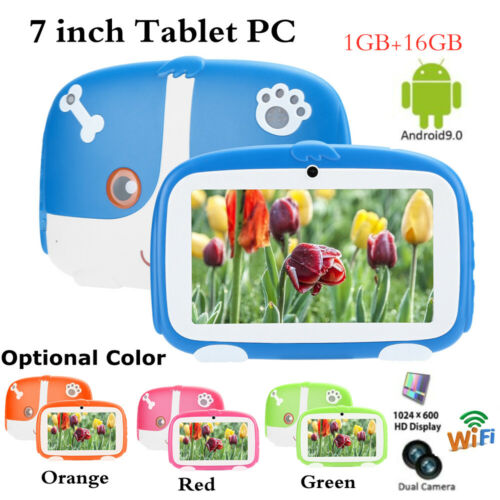 """7"""" Kids Tablet PC Android9.0 1GB RAM 16GB Bluetooth Quad Core WiFi Dual Cam Gift"""