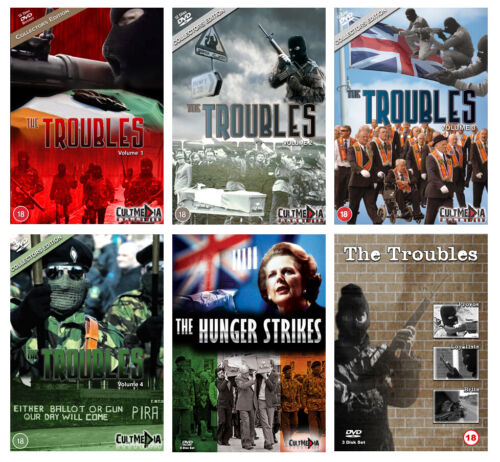 The Troubles - The Complete DVD Collection - Ireland Easter Rising Irish Famine <br/> ☘️6 Boxsets. 55 DVDs. 57hrs  ☘️Rare Boxset DVD Series