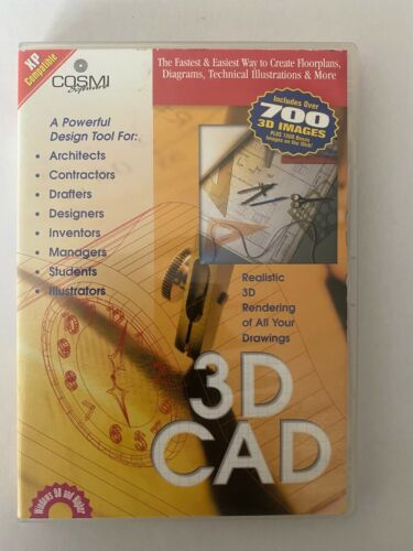 ' 3D CAD - A POWERFUL DESIGN TOOL FOR ALL DRAWING [PC CD-ROM] BRAND NEW