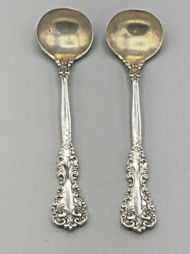 Revere by International Sterling Silver 2 Master Salt Spoons 3.5""
