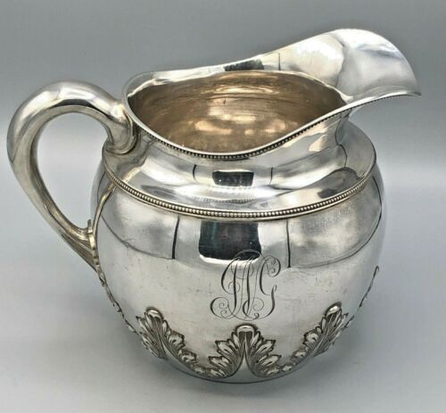 Antique Shreve, Crump & Low/ Goodnow & Jenks Sterling Silver Water Pitcher