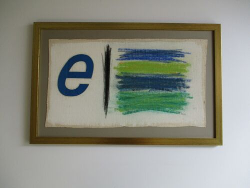 VINTAGE POP ART ED RUSCHA STYLE ABSTRACT LETTER E EXPRESSIONISM 1970'S MODERNIST
