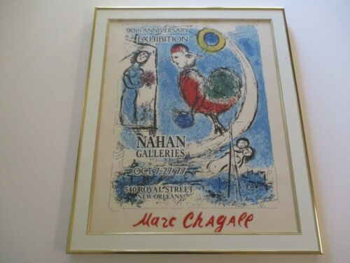 MARC CHAGALL LITHOGRAPH LIMITD  NUMBERED AUTHENTIC VINTAGE EXPRESSIONIST 1970'S