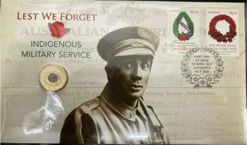 Australia PNC Cover - 2021 Indigenous Military Services Lest We Forget FDC