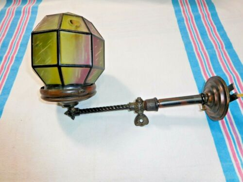Antique ~ Japanned Wall Sconce ~ Gas converted to Electric ~ Rewired~ #2524
