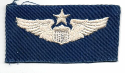 Vietnam Cold War Era US Air Force Blue & White Senior PILOT Badge PatchPatches - 104015