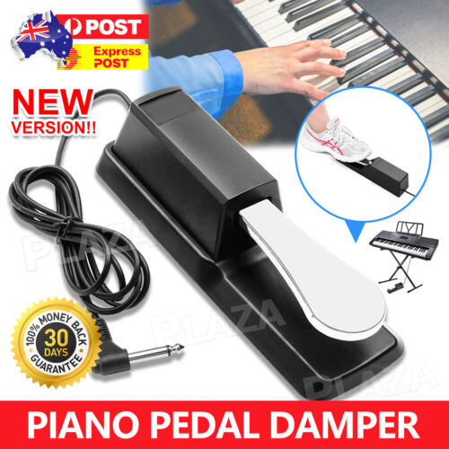 Universal Piano Damper Sustain Pedal Foot Switch for Electric Piano Keyboard OZ