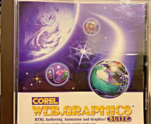 Corel Web Graphics Suite PC CD create HTML website pages, animated images tools