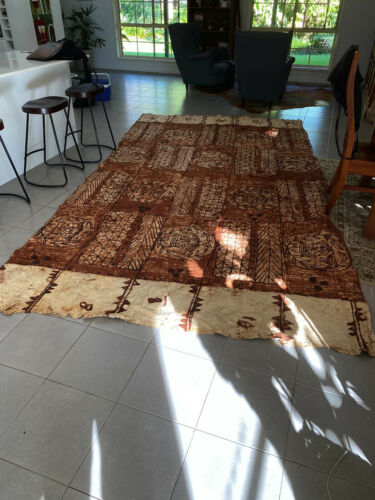 Huge Tongan Ngatu Tapa Cloth in excellent condition (1 of2)