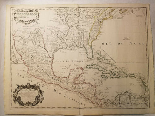 1708 Guillaume Delisle Large Antique Map of North America