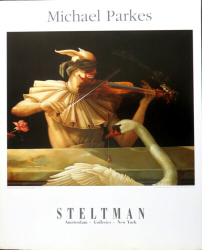 Michael Parkes Water Music 1997 Offset Lithograph Poster 31-1/2 x 25-1/2