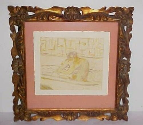PIERRE BONNARD WELL LISTED FRENCH ARTIST LITHOGRAPH WOMAN SEATED IN THE BATH