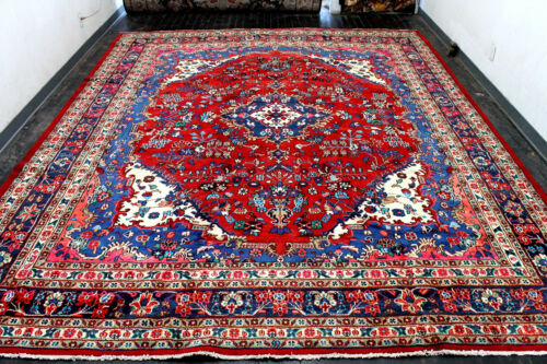 11X14 1940's MUSEUM PIECE HAND KNOTTED ANTIQUE TRIBAL FERAHANN WOOL ORIENTAL RUG