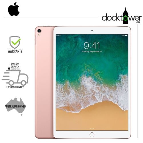 """Apple iPad Pro 10.5"""" 256GB WiFi + 4G Cellular A1709 Rose Gold Unlocked Excellent"""
