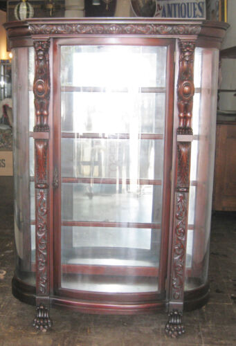 ANTIQUE RENAUSSANCE CARVED DISPLAY CABINET ca.1870s
