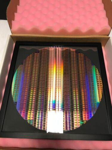 """silicon wafer 12"""" copper pattern reclaim300mm in 13x13 frame"""