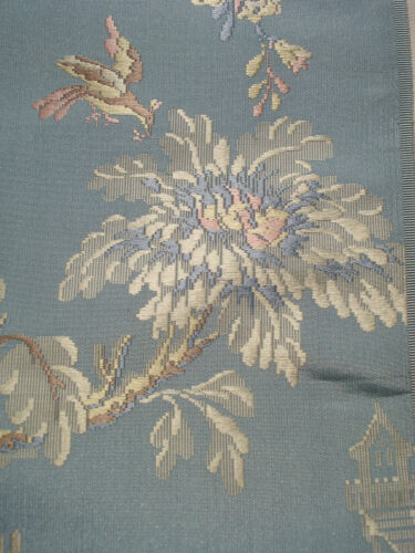 antique french 18 th c style chinoiserie silk brocade sample