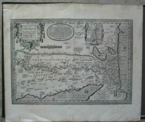 ANCIENT MAP OF EGYPT by Abraham Ortelius 1609 or 1612