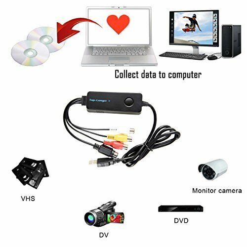 New USB 2.0 VHS to DVD Video Capture Converter Card Device for Mac OS & Windows