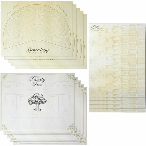 Blank Family Tree Genealogy Charts and Forms (17 x 22 Inches, 15 Pack) <br/> HIGH QUALITY√US STOCK√FAST SHIPPING√TOP US SELLER√