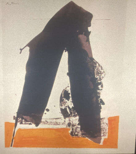 """Robert Motherwell """"Basque Suite"""" Abstract Expressionism 35mm Slide"""