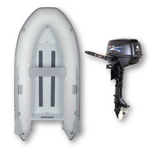 3.1m ISLAND INFLATABLE Alloy RIB BOAT + 4HP PARSUN OUTBOARD ✱ PACKAGE DEAL ✱