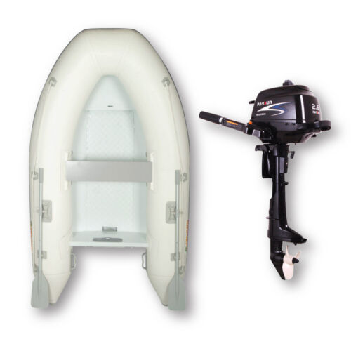 2.7m HYPALON ISLAND INFLATABLE RIB BOAT + 2.6HP PARSUN OUTBOARD ✱ PACKAGE DEAL