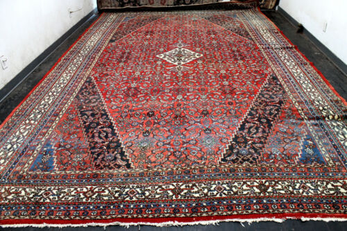 11X17 PALACE SIZE ANTIQUE HAND KNOTTED VEGETABLE DYE WOOL TRIBAL ORIENTAL RUG