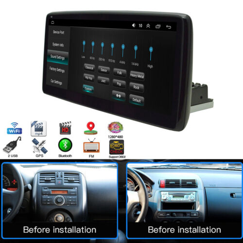 1Din Car Multimedia Player Android 9.1 Stereo 10.25'' Video WiFi MP5 Auto Radio