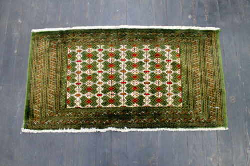 4X2 NEW ANTIQUE STYLE HAND KNOTTED VEGETABLE DYED WOOL TURKAMON PRAYER RUG