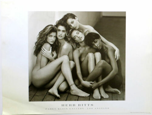 Herb RITTS Five Super Models Hollywood Poster 23-1/2 x 31-1/2