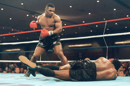 Mike Tyson Boxing Boxer Vintage Art Silk Poster 24x36 inch 001