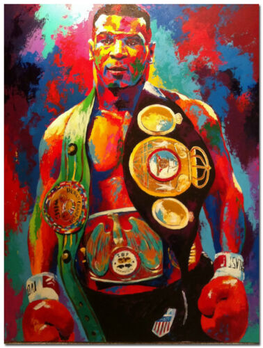 Mike Tyson Champion Boxer Boxing Art Silk Fabric Poster 24x32 inch Friends Gift
