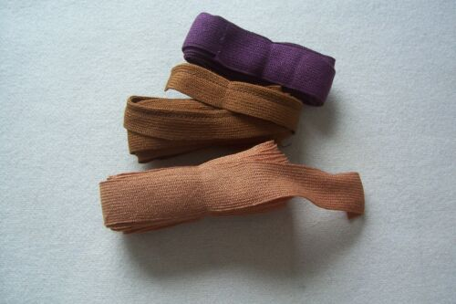 Vintage Victorian Edwardian Antique 1800's Wool and Cotton Braid Lot of 3