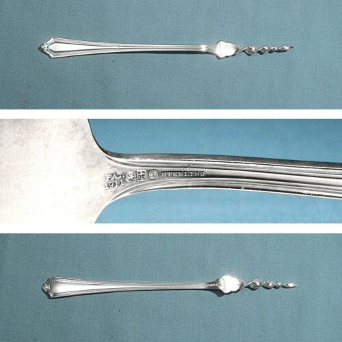 """GORHAM STERLING 6"""" 1-TINE BUTTER PICK ~ PLYMOUTH ~ NO MONO"""
