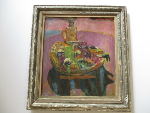 PIERRE BONNARD ? OIL PAINTING UNSIGNED STAMPED IMPRESSIONISM STILL LIFE ANTIQUE
